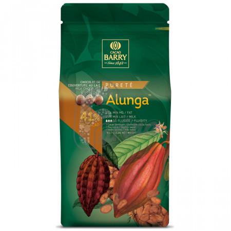 Шоколад молочний кувертюр ALUNGA™ 41% 1 кг< фото цена