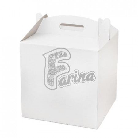Коробка для торта 300х300х300 белая< фото цена