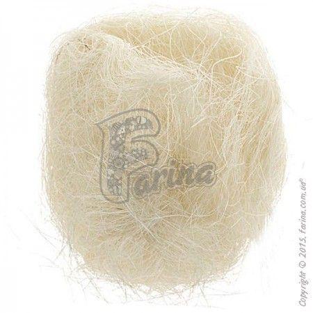Растительное волокно Сизаль, цвет топленое молоко 100г< фото цена