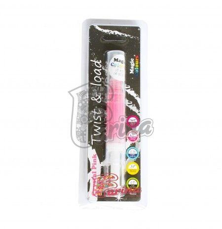 Краситель-блеск Розовый с кисточкой Edible Glitter Brush< фото цена