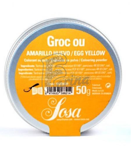 Яично-желтый водорастворимый краситель в порошке SOSA 5 гр< фото цена