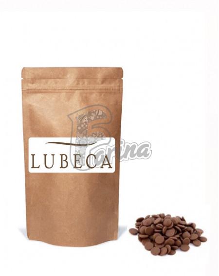 Шоколад молочный кувертюр Lubeca IVORY COAST 35% в виде калет  400гр< фото цена