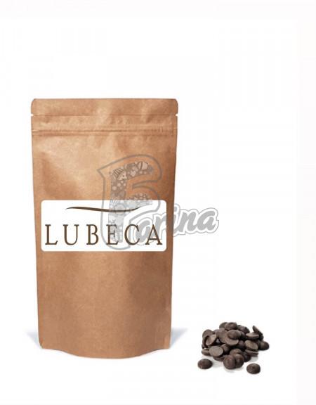 Шоколад темний кувертюр Lubeca IVORY COAST 55% в виде калет 400гр< фото цена