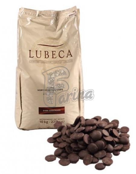 Шоколад темний кувертюр Lubeca IVORY COAST 55% в виде калет 10 кг< фото цена