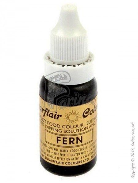 Краситель гелевый пищевой SugarFlair Папоротник (Fern) 14г.< фото цена