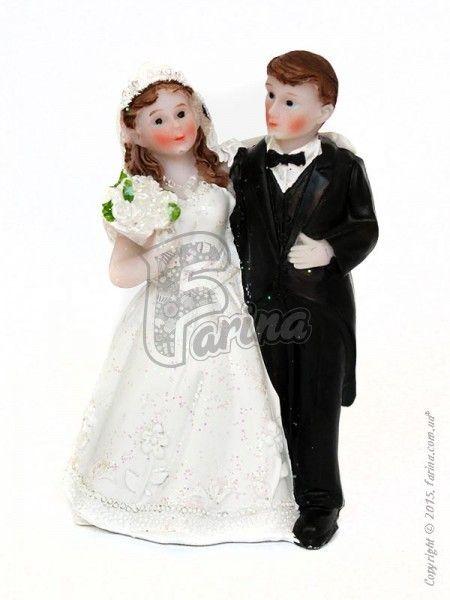 Свадебные фигурки жениха и невесты 9 см 1200E< фото цена