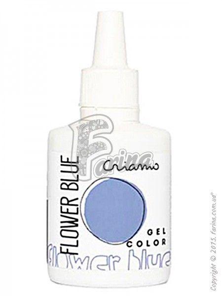 Краситель гелевый пищевой Criamo Голубой Цветочный/Flower Blue 25г.< фото цена