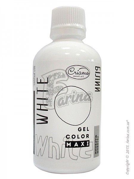 Краситель гелевый пищевой Criamo Maxi Белый 125 г< фото цена