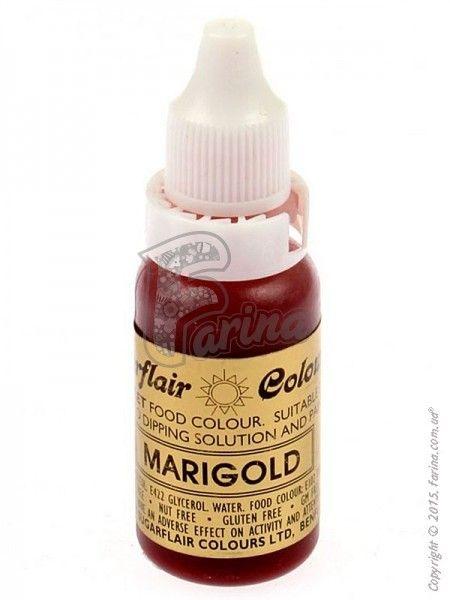 Краситель гелевый пищевой SugarFlair Темно-желтый (Marigold) 14г.< фото цена