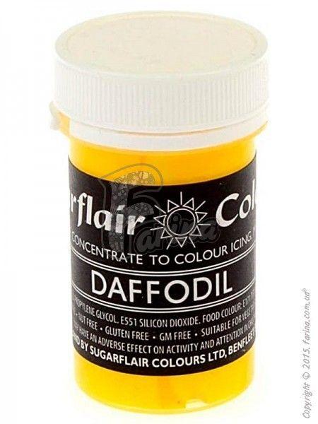 Краситель пастообразный пищевой SugarFlair Daffodil нарцисс 25г.< фото цена