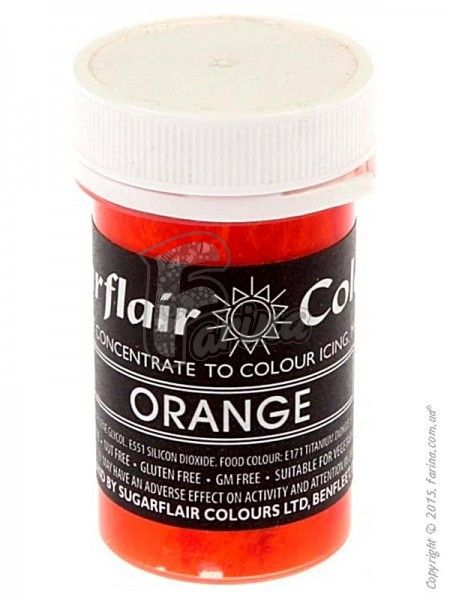 Краситель пастообразный пищевой SugarFlair Orange оранжевый 25г.< фото цена