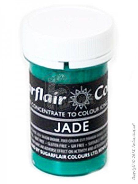Краситель пастообразный пищевой SugarFlair Jade нефритовый 25г.< фото цена