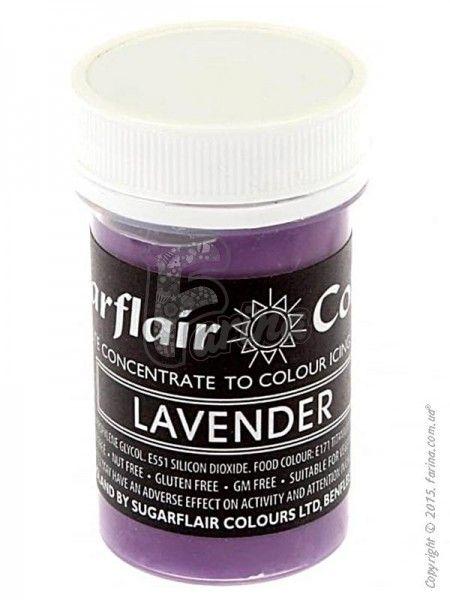 Краситель пастообразный пищевой SugarFlair Lavender лаванда 25г.< фото цена