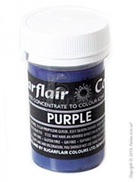 Краситель пастообразный пищевой SugarFlair Purple фиолетовый 25г.< фото цена