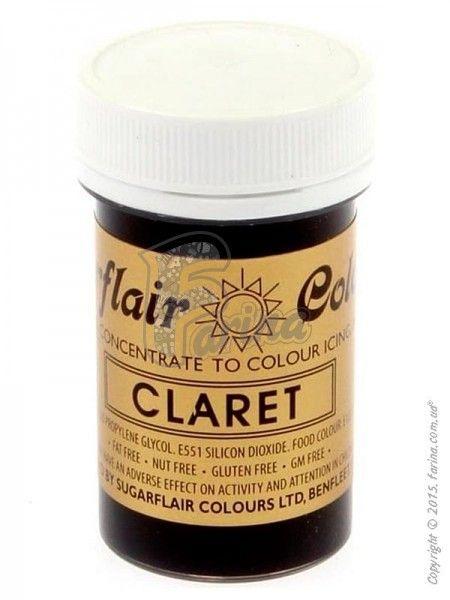 Краситель пастообразный пищевой SugarFlair extra Claret кларет 25г.< фото цена