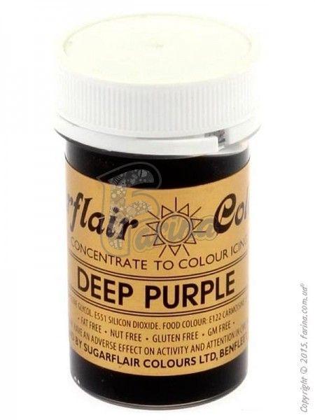 Краситель пастообразный пищевой SugarFlair extra Deep Purple темно-фиолетовый 25г.< фото цена