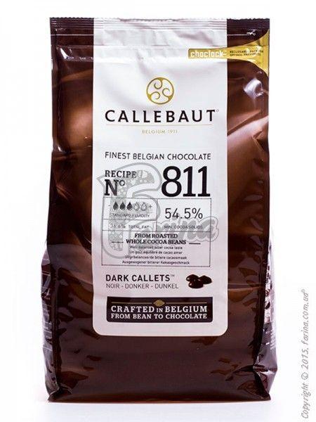 """Шоколад черный """"Callebaut Select"""" 54,5% какао, каллеты 10 кг< фото цена"""