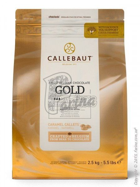 Шоколад GOLD Callebaut  30,4% какао 2,5 кг< фото цена