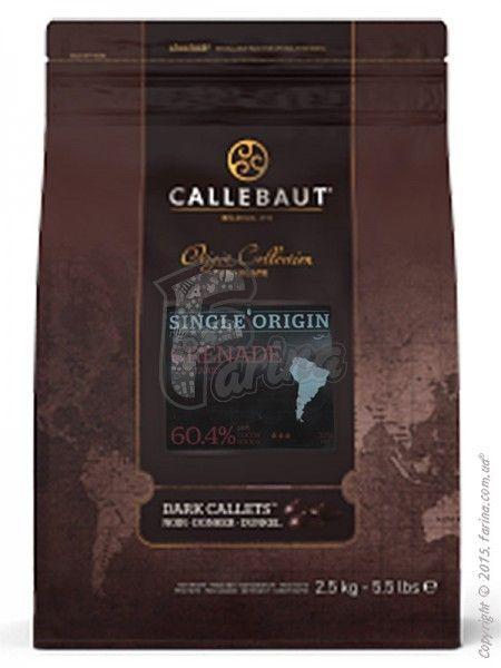 Шоколад темный Callebaut Grenade 60% какао 2,5 кг< фото цена