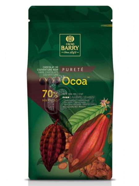 Шоколад черный кувертюр Какао Барри OCOA™ 70% 1 кг< фото цена