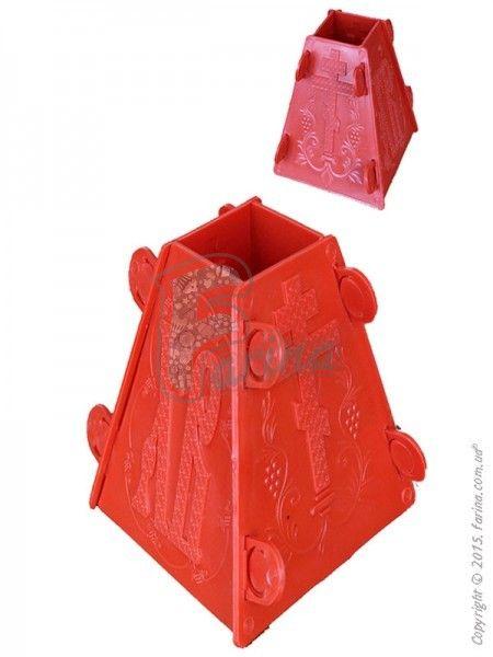 Форма для приготовления творожной Пасхи 11х5x17 см< фото цена