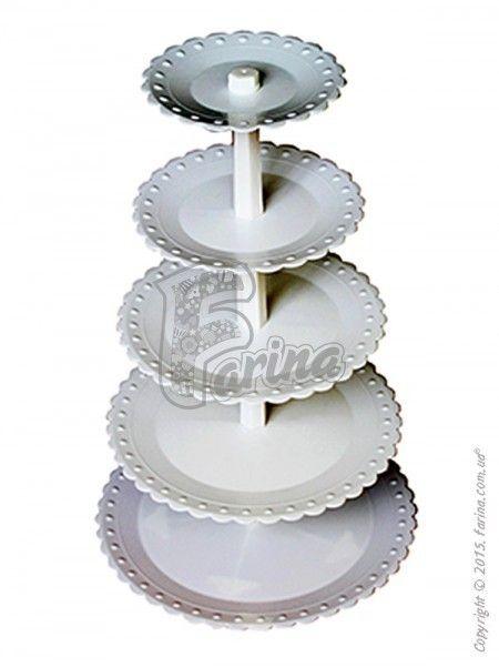 Разборная стойка под торт (капкейки) 5 ярусов< фото цена