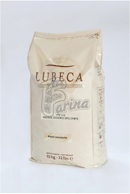 Шоколад белый Lubeca 29% в виде калет 10 кг< фото цена