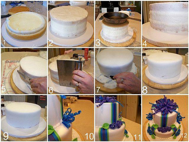 Рецепт тортов с мастикой фото пошагово
